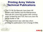 printing army vehicle technical publications