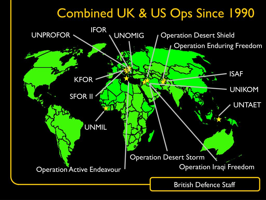 Combined UK & US Ops Since 1990