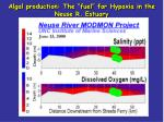 algal production the fuel for hypoxia in the neuse r estuary