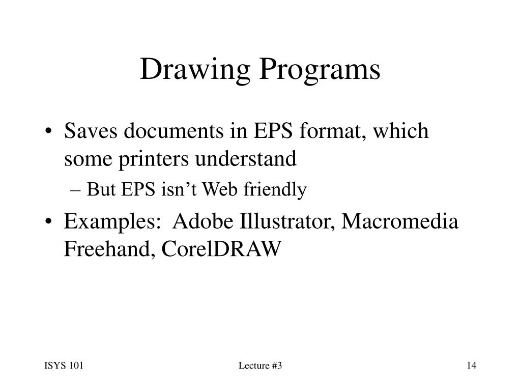Drawing Programs