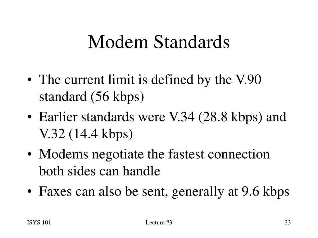 Modem Standards