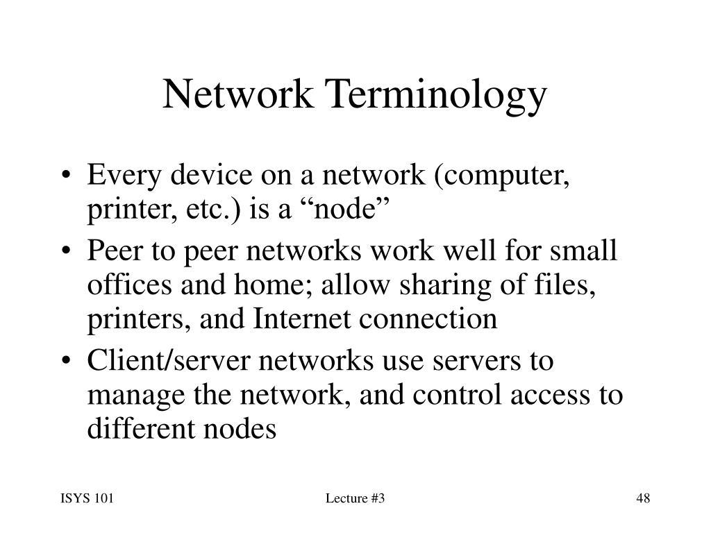 Network Terminology