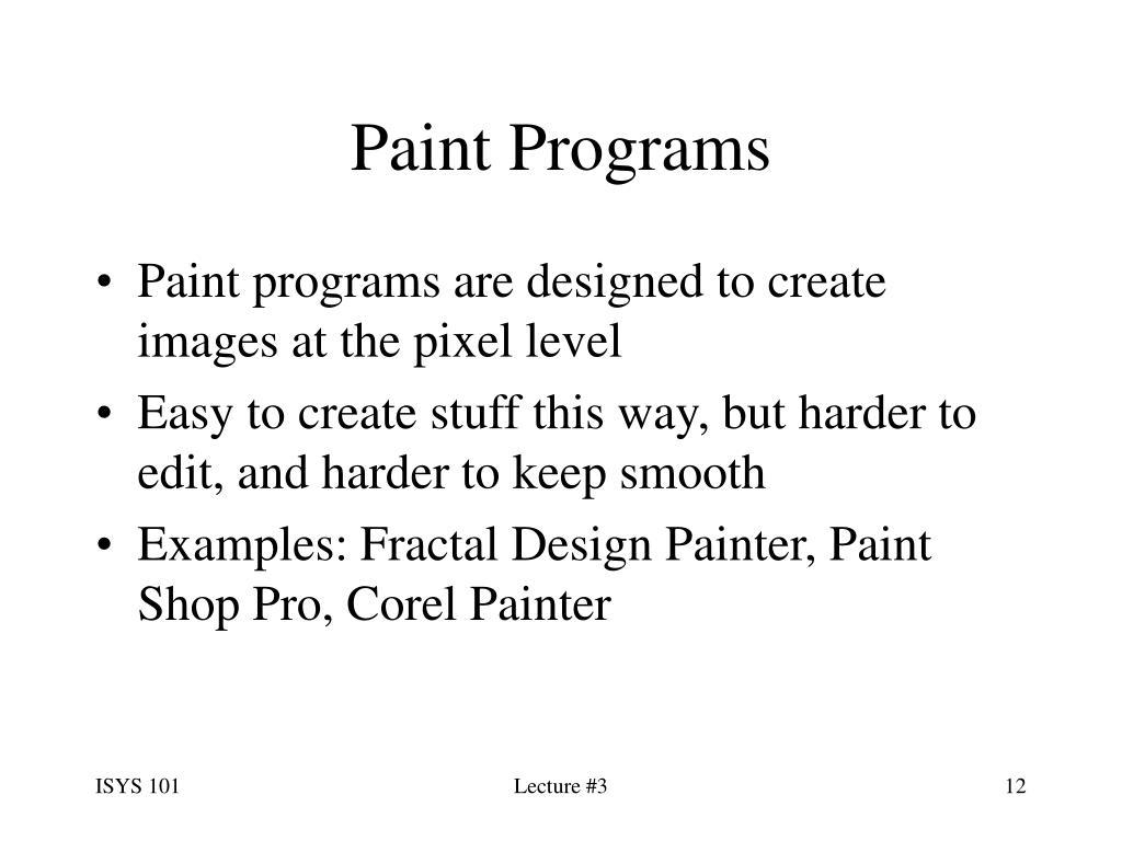 Paint Programs