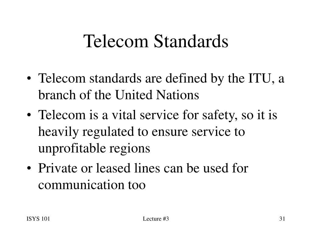 Telecom Standards