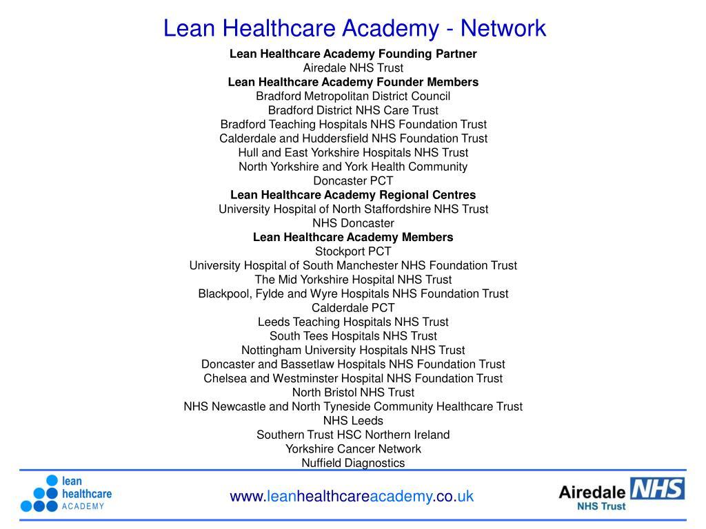 Lean Healthcare Academy - Network