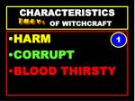 characteristics of witchcraft