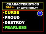 characteristics of witchcraft62