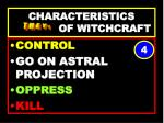 characteristics of witchcraft64