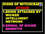 signs of witchcraft attack