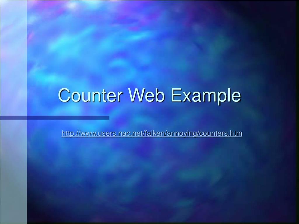Counter Web Example
