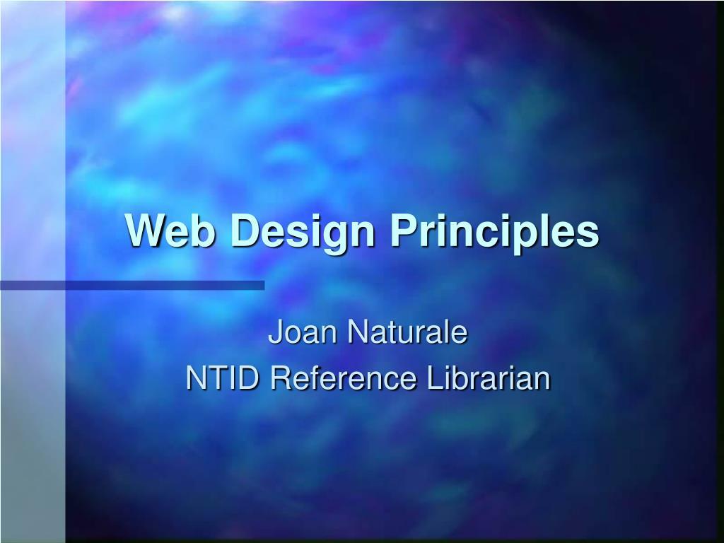 web design principles l.
