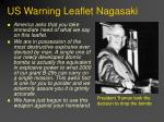 us warning leaflet nagasaki