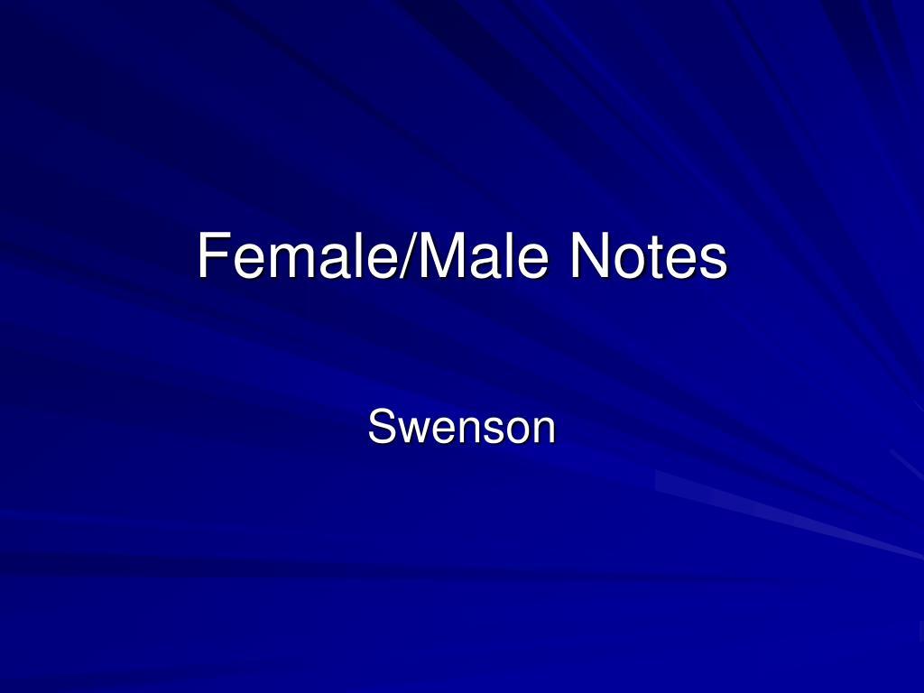 female male notes l.