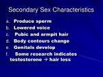 secondary sex characteristics31