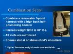 combination seats