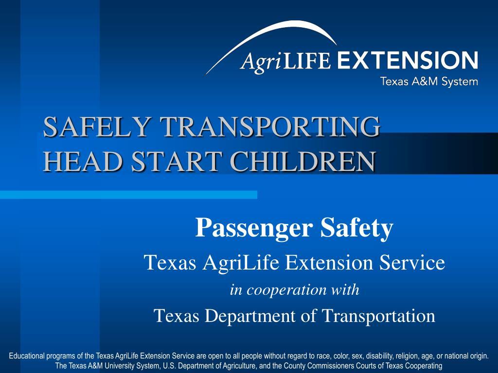 safely transporting head start children l.
