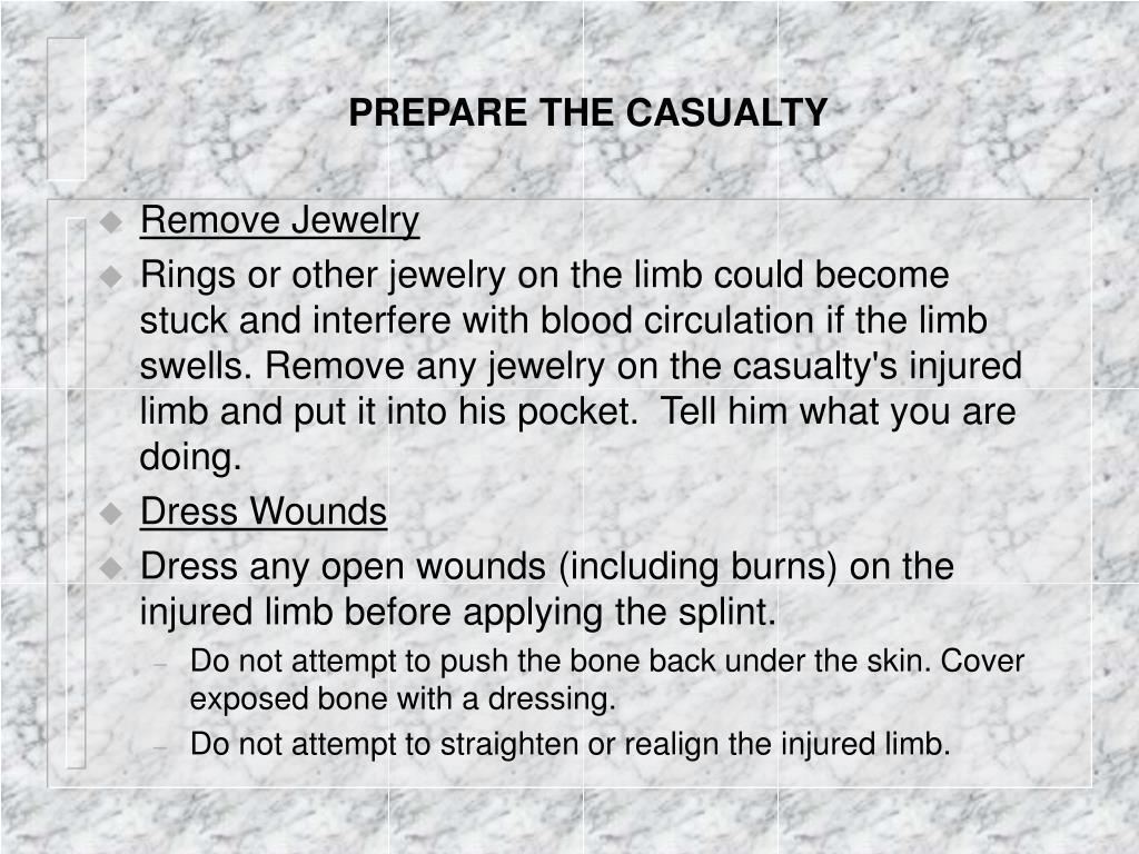 PREPARE THE CASUALTY