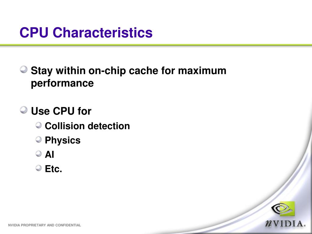 CPU Characteristics