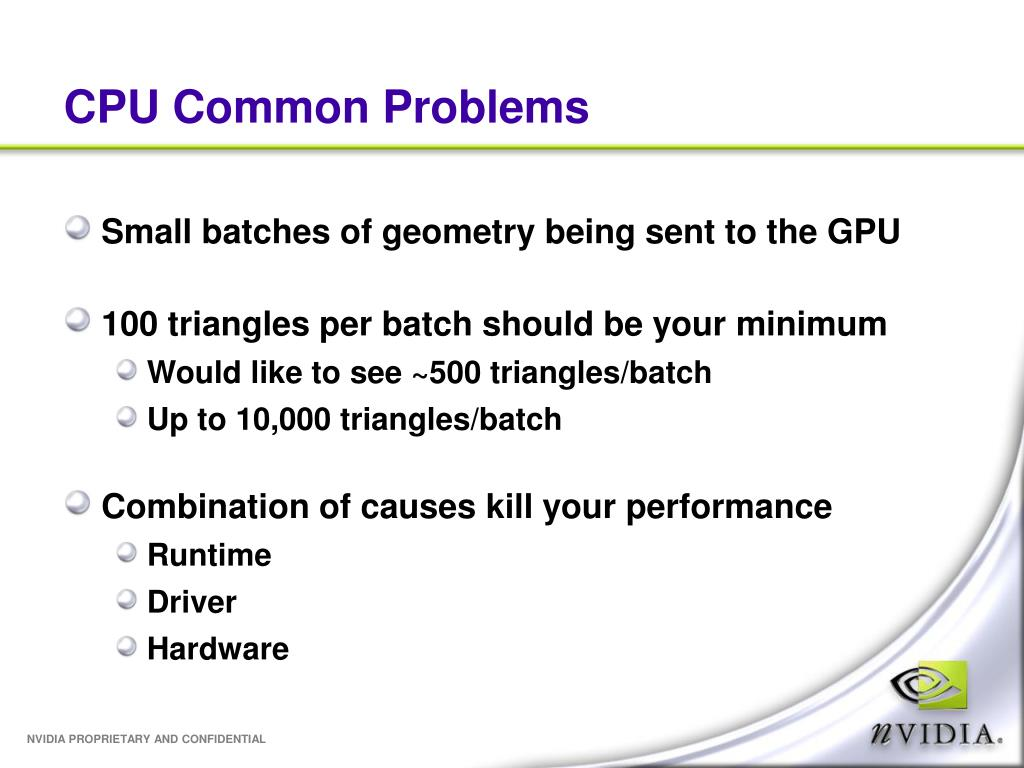 CPU Common Problems