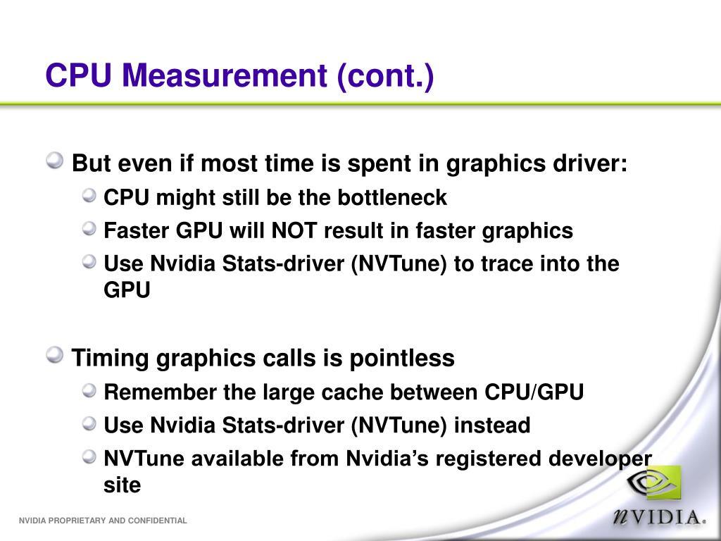 CPU Measurement (cont.)