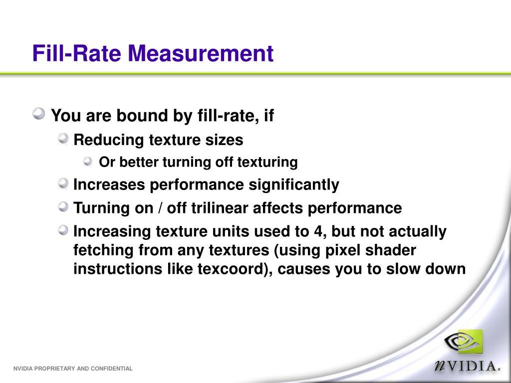Fill-Rate Measurement