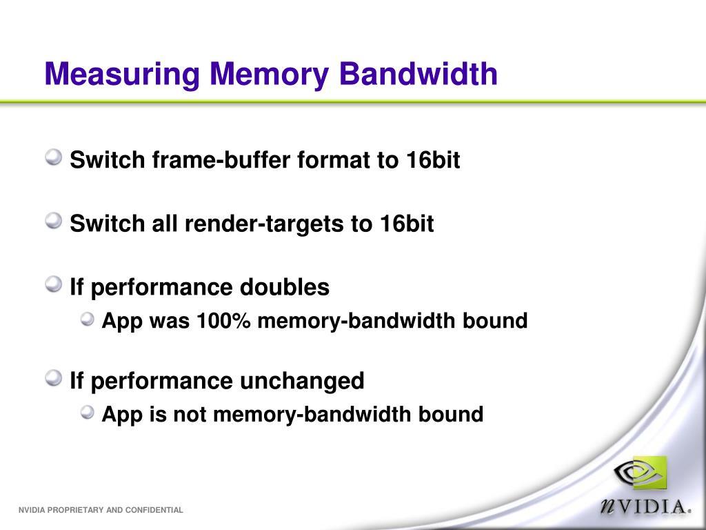Measuring Memory Bandwidth