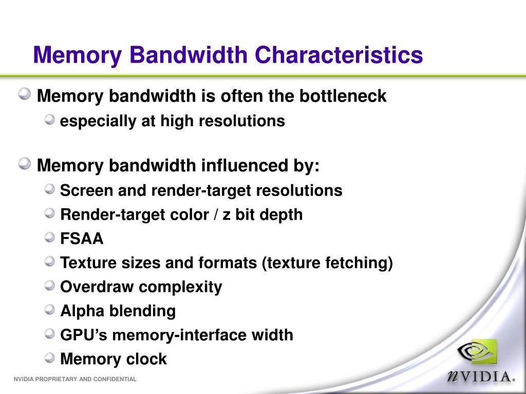 Memory Bandwidth Characteristics