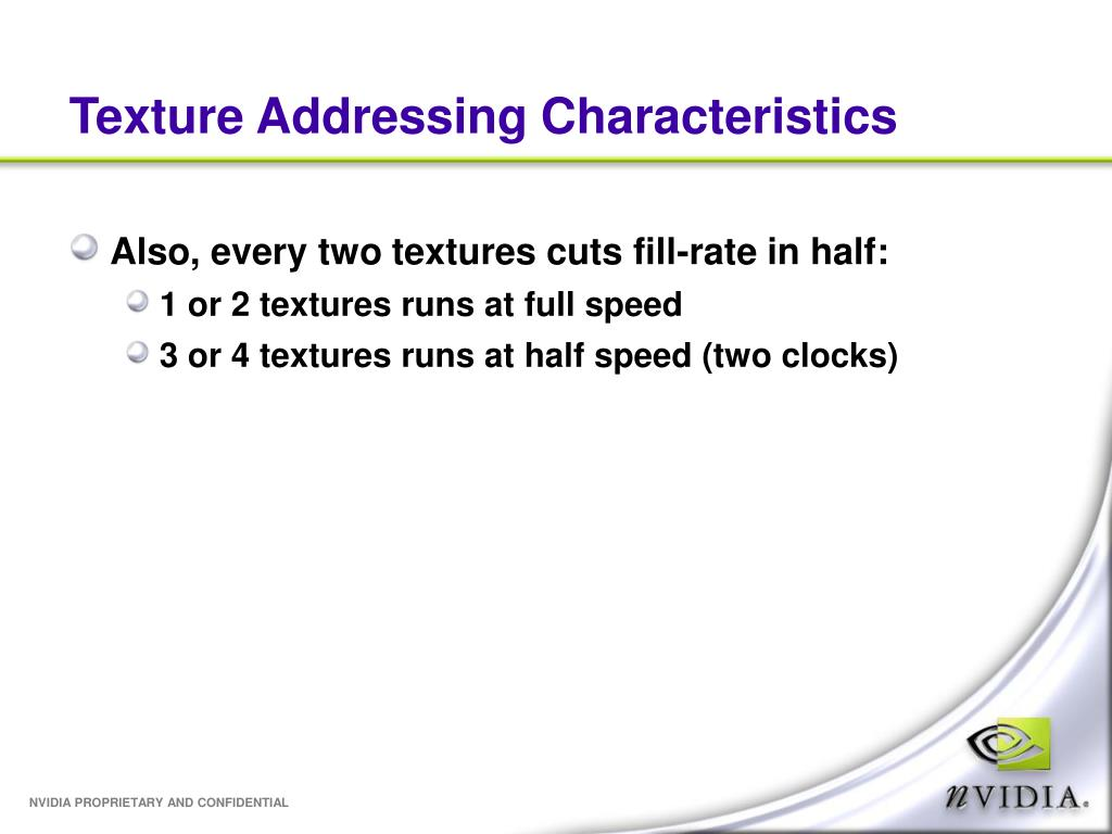 Texture Addressing Characteristics