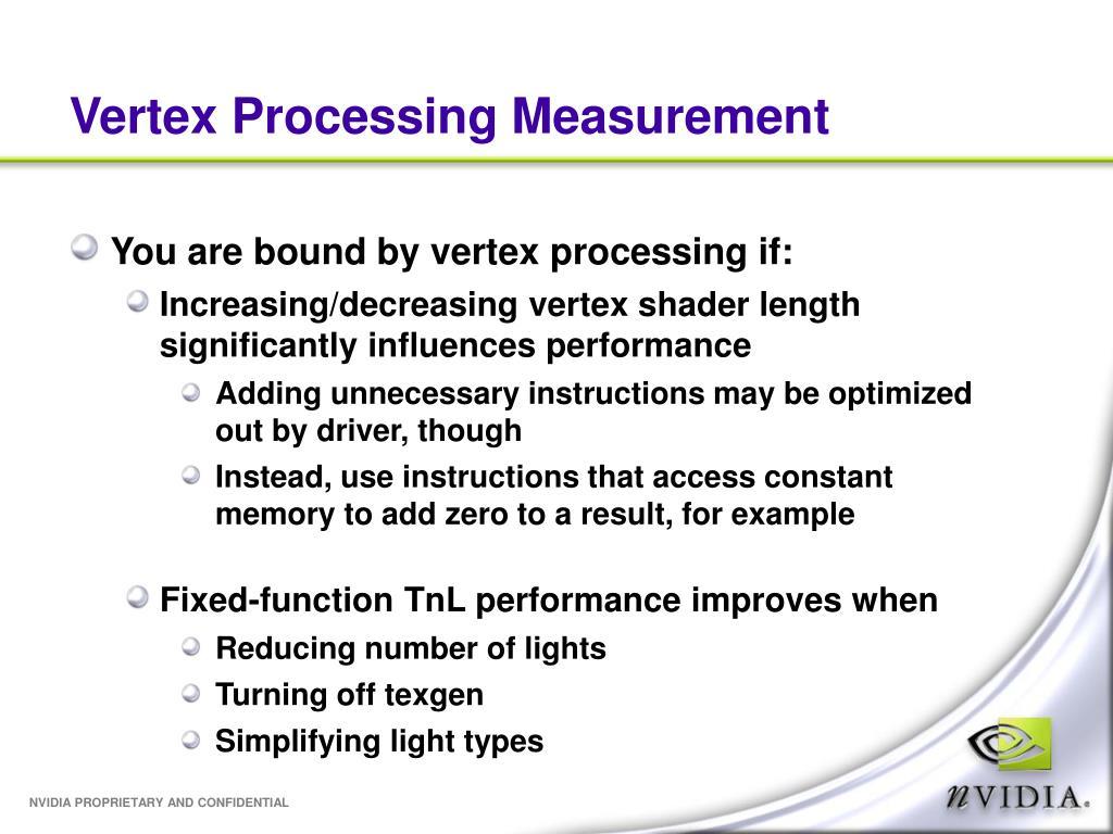Vertex Processing Measurement