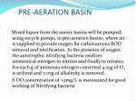 pre aeration basin