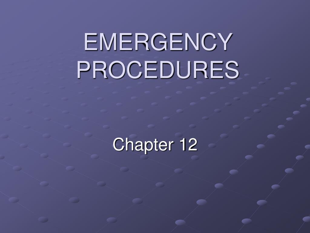 emergency procedures l.