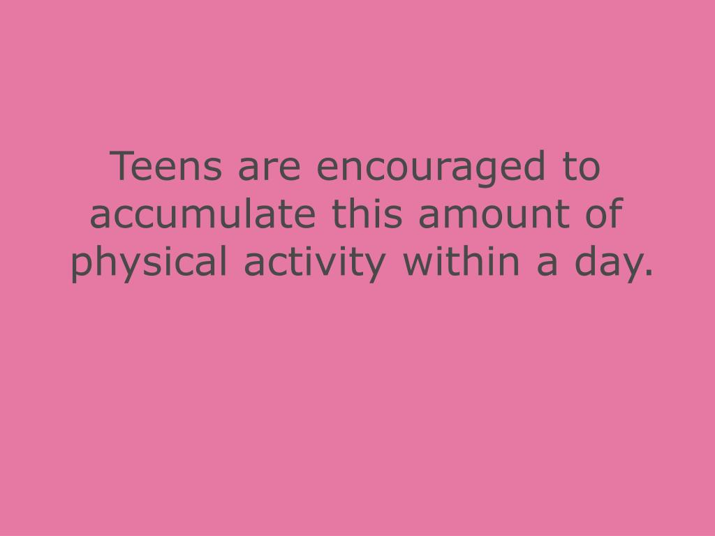 Teens are encouraged to
