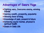 advantages of swara yoga