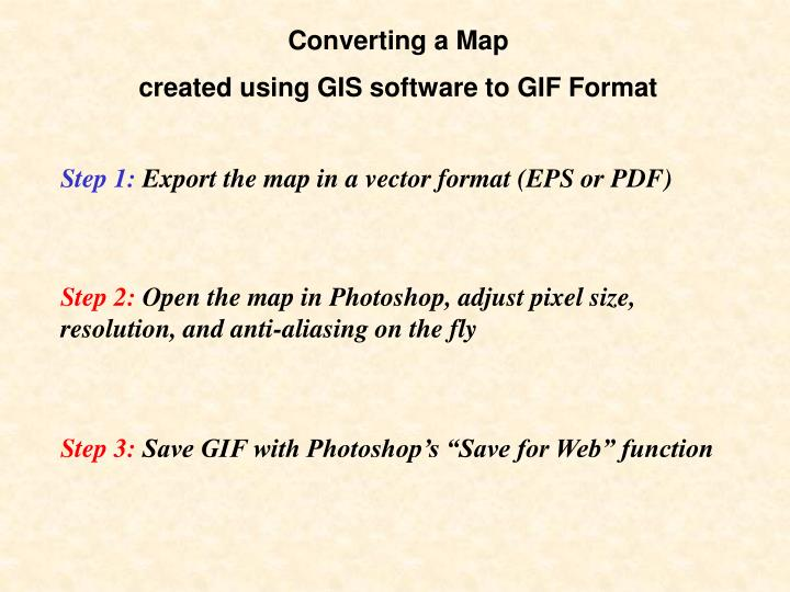 Converting a Map