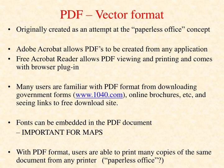 PDF – Vector format