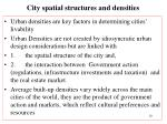 city spatial structures and densities