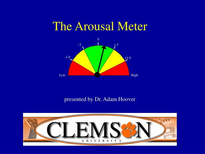 PPT - The Arousal Meter PowerPoint Presentation - ID:174906