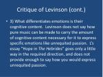 critique of levinson cont