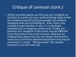 critique of levinson cont13