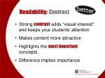 readability contrast1