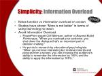simplicity information overload