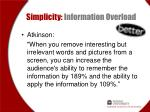 simplicity information overload3