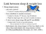 link between sleep weight loss