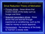 drive reduction theory of motivation7