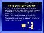 hunger bodily causes