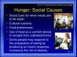 hunger social causes