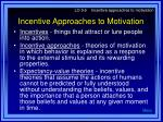 incentive approaches to motivation