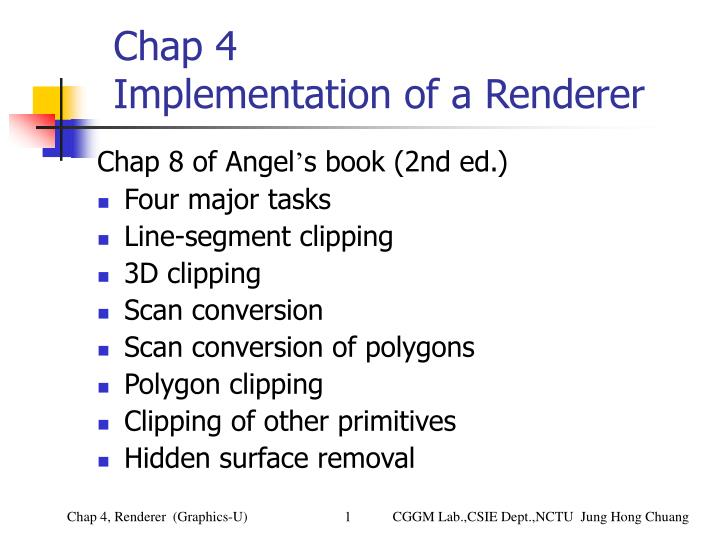 chap 4 implementation of a renderer n.