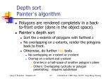 depth sort painter s algorithm