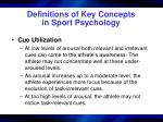 definitions of key concepts in sport psychology10